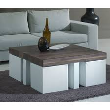 coffee table with stools love this idea for stools tucked under