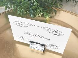 diy place cards diy binder clip wedding place cards
