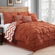 Pink And Brown Comforter Sets Modern Orange Bedding Sets Allmodern