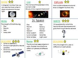 space revision activities ks3 by hephelumps teaching resources tes