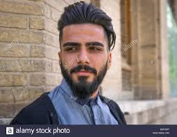 iran tehran province tehran young man with western haircut in