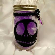 tim burtons nightmare before christmas inspired mason jar