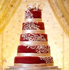 maroon and gold wedding 5 tier maroon and gold theme cake ammielita00
