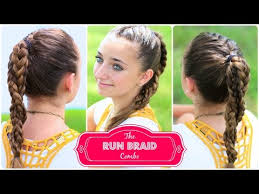 Cute Sporty Hairstyles The Run Braid Combo Hairstyles For Sports Youtube