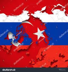 Turkey World Map Turkey Russia Flag World Map Background Stock Illustration