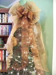 brown christmas tree large brown copper burlap mesh jute ribbon door wreath christmas