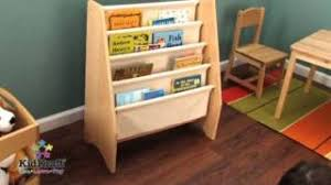 Kidkraft Bookcase Kidkraft Sling Bookshelf Natural Kk14221 Youtube