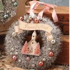 bethany lowe pastel pink tinsel wreath sn6800 ebay