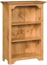 Small Open Bookcase Solid Wood Amish Home Office Furniture Colonial Pine Bookshelf Or