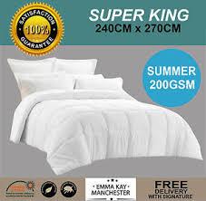 Duvet Summer Weight Microfibre Summer Weight Super King 200gsm Quilt Duvet Doona