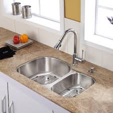 stainless steel kitchen sink combination kraususa com discontinued 32 inch undermount double bowl stainless steel kitchen sink with chrome kitchen faucet and