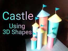 castle using 3d shapes art u0026 craft for kids youtube