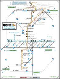 Atlanta Metro Rail Map by Marta Metro