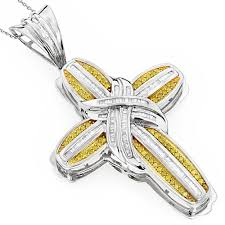 yellow diamond pendant necklace images Mens 14k yellow diamond cross pendant necklace 2 52ct jpg