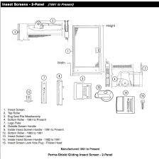 Andersen Patio Door Hardware Replacement Screen Door Lock White