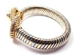 stainless steel cartier bracelet images Cartier citrine stainless steel gold hercules knot bracelet for jpg