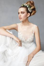 Modern Wedding Dress Hand Beaded Soft Net Boat Illusion Neck Modern Wedding Dress