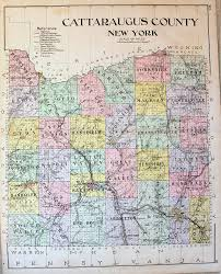 Warwick New York Map by Cattaraugus County New York Antique Maps And Charts U2013 Original