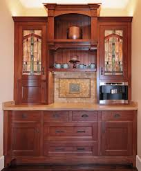 san francisco leaded glass cabinet kitchen traditional with white