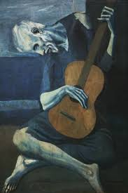 pablo picasso le vieux gutariste the old guitarist 1903 art institute of chicago
