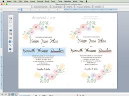 Wedding Invite Template Free Wedding Invitation Template With Watercolor Flowers