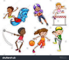 people doing different types sports illustration stock vector