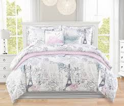 eiffel tower girls bedding paris themed bedding