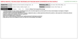 medical technologist microbiology job title docs