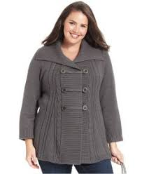 style co plus size sweater sleeve hooded marled tunic
