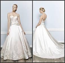 fashion ivory wedding dresses 2016 applique handmade flower simple