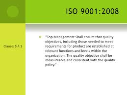 Iso 9001 Quality Policy Statement Exle by Presentation On Establishing Quality Objectives
