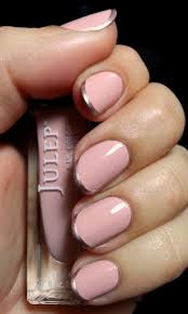 nail art u2013 pink and rose gold french tips u2013 emi u0027s manis