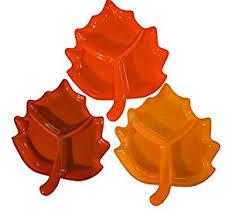 thanksgiving leaves serving platter dish set of