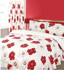Black Floral Bedding Home Textile 100high Quality Cotton Knitting Gingham Consort Red