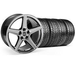 Black Chrome Wheels Mustang Mustang Staggered Saleen Style Black Chrome Wheel U0026 Nitto Tire Kit