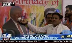 video u003d u003e indian supporters celebrate donald trump u0027s birthday with