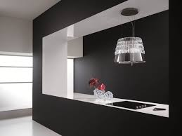 le suspendue cuisine design interieur hotte decorative design noir blanc cuisine hotte