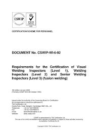 cswip document nondestructive testing welding