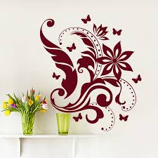 compare prices on floral wall decals online shopping buy low wall decals floral pattern decal living room bedroom home decor vinyl sticker china mainland