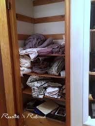 linen closet organization rustic u0026 refined