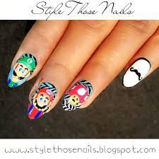 style those nails cartoon character nails