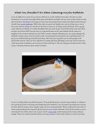 Best Acrylic Bathtubs What You Shouldn U0027t Do When Cleaning Acrylic Bathtubs