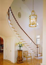 curved stairs staircase modern with oval window wood inlay frame