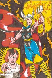 female thor commission 2 by zespara on deviantart