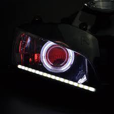 cbr600rr headlight white angel red demon eyes drl light for honda cbr600rr