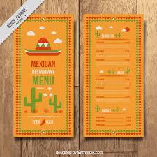 mexican menu template free vectors ui download