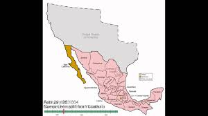 Mexico States Map by Mexico States Evolution Youtube