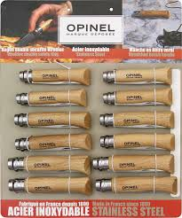 Opinel Kitchen Knives Review Opinel 12 Piece Stainless Steel Assortment Oak Wood Handles