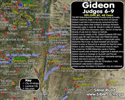 Timeline Maps Timeline Maps Chronology Sermons Of Judges Gideon 1191 1144 Bc