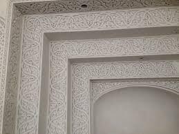 decoration en platre décoration de plâtre staff dans un centre culturel à la seyne sur
